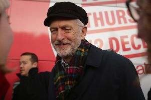 Jeremy Corbyn, pictured campaigning in Linlithgow, has failed to clarify how he would campaign in a second Brexit referendum.