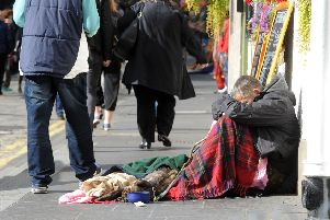 The number of homeless people has been rising for several years (Picture: Lisa Ferguson)