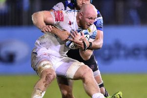 Stuart Hogg will be giving Exeter the lowdown on his former Glasgow team-mates when the clubs clash on Saturday. Picture: Getty.