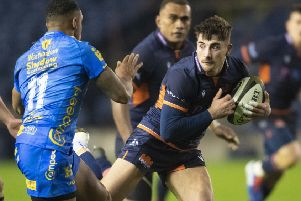 Charlie Shiel started for Edinburgh for the first time against Agen. Picture: SNS.