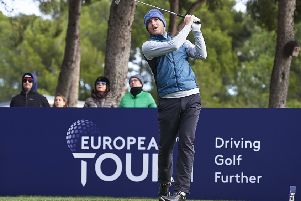 Daniel Young in action in the European Tour Qualisying School, a six-round maraton, at Lumine Golf Club in Spain. Picture: Getty Images