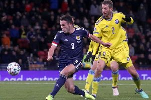 John McGinn completes Scotland's 3-1 win over Kazakhstan with his second goal of the night in the 90th minute.