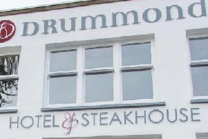 Emergency services were called to the scene at Drummonds Hotel, Fife, shortly after 10am after the sudden death of a man.