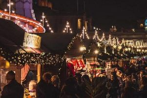 The Edinburgh Christmas Market opened at the weekend. Pic: Shutterstock