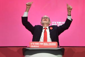 Labour Party leader Jeremy Corbyn during the launch of his party's manifesto in Birmingham. (Picture: Joe Giddens/PA Wire)