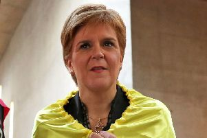 First Minister Nicola Sturgeon took the title for the fifth time. Picture: Andrew Milligan/PA Wire