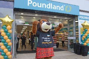 Poundland opens for business on Princes Street. Picture: Jon Savage