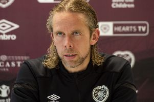 Hearts interim manager Austin MacPhee was angered by pundit Allan Preston's comments. Picture: Ross MacDonald/SNS
