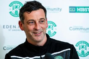 Hibs boss Jack Ross will face his former club on Tuesday. Picture: SNS