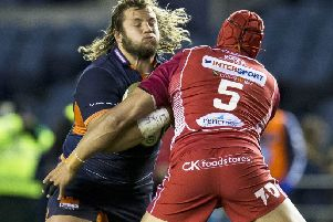 Edinburgh's Pierre Schoeman has made no secret of his desire to see out the five-year residency requirement that would enable him to play for Scotland. Picture: Bruce White/SNS