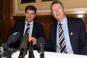 Dave King welcomes Steven Gerrard to Rangers.