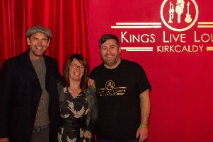 Actor Dougray Scott visits the Kings Live Lounge in Kirkcaldy.