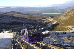 It is estimated that the funicular at Cairngorm Mountain ski area could cost as much as �10 million to repair PIC: Ian Rutherford