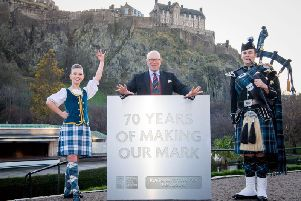 Brigadier David Allfrey visited Princes Street Gardens to launch ticket sales for the 70th edition of the Royal Edinburgh Military Tattoo.