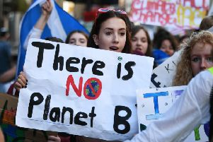 Protesters call for more action on climate change as they march through Glasgow earlier this year (Picture: John Devlin)