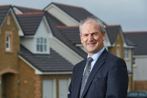 George Fraser, chief executive of Tulloch Homes, pictured at one of its housing developments. Picture: Contributed