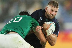 John Barclay in action for Scotland against Ireland at the 2019 World Cup.