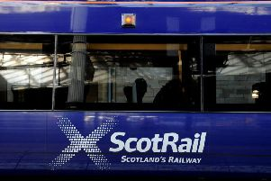 A person has been struck near Fauldhouse and ScotRail services have been suspended.