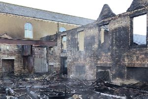 Pupils and staff at the school were evacuated as fire crews began tackling the blaze, which left severe damage to the building.