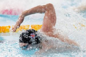 Duncan Scott in the Men's 4 x 50m freestyle heats. Picture: Ian Rutherford/PA Wire