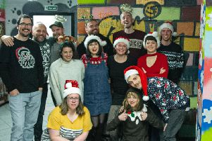"""The Olive Grove All-Star Choir recorded festive single """"Christmas, Burn It All"""" at Castlemilk Youth Centre in Glasgow."""