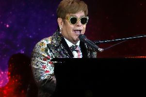 Sir Elton said he had starved himself of songwriting so he could let loose his pent up creativity when he returned to the studio.  Picture: PA