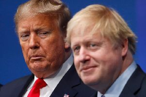 Boris Johnson and Donald Trump (Picture: Peter Nicholls/AFP via Getty Images)