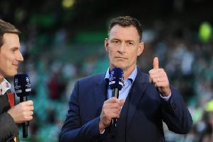 Chris Sutton will be part of BT Sport's team for their coverage of the Betfred Cup final. Picture: John Devlin
