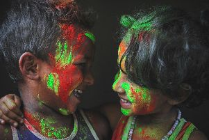 """@rafayat explains the origins of the Holi festival traditions:""""Holi is the festival of colors: it's a time when friends come together and let all their differences sink in the colors."""