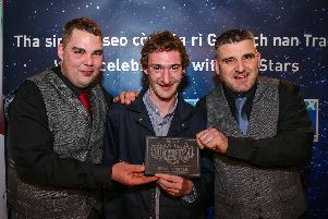 Peat & Diesel were crowned best live act at the Scots Trad Music Awards in Aberdeen. Picture: Paul Campbell.