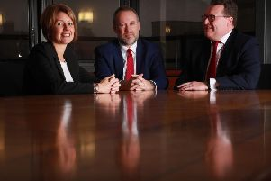 Susanne Godfrey, Bruce Farquhar and Murray McCall of Anderson Strathern. Picture: Stewart Attwood