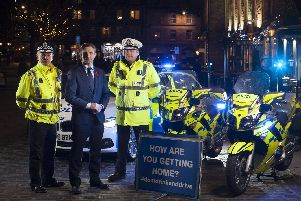 Michael Matheson at the launch of the new drink-drive limit. Picture: PA
