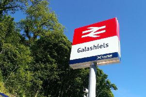 The incident happened at Galashiels station in the Borders at around 8.30pm on Sunday.