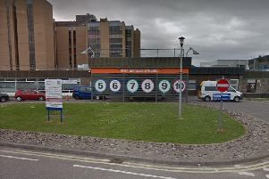 The 15-year-old was treated at the scene for minor injuries after she was hit by the vehicle outside Raigmore Hospital in Inverness. Picture: Googlemaps