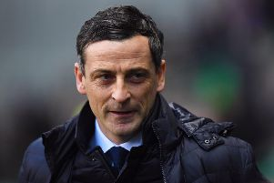 Hibs manager Jack Ross is pictured during his side's Ladbrokes Premiership win over Aberdeen. Picture: Ross Parker/SNS