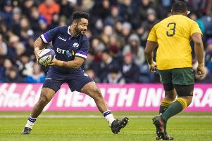 Darryl Marfo was capped three times by Scotland in the 2017 autumn Test series but made only 11 appearances for Edinburgh. Picture: Gary Hutchison/SNS/SRU