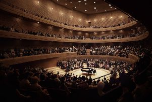 An artist's impression of the interior of the St Andrew Square concert hall