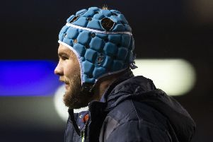 Lock Sam Thomson is aiming to get more game time to establish himself with Edinburgh. Picture: Gary Hutchison/SNS/SRU