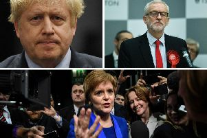 Boris Johnson, Jeremy Corbyn and Nicola Sturgeon. Pictures: Getty