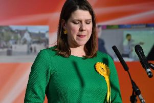 Jo Swinson was the night's major casualty losing her Dunbartonshire East seat to SNP (Getty Images)