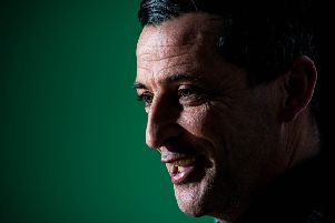 Hibernian head coach Jack Ross is relishing the chance to take on Celtic in Glasgow. Picture: Ross Parker / SNS
