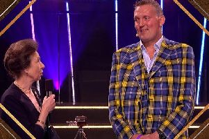 Doddie Weir was presented with the BBC Sports Personality of the Year Helen Rollason Award on Sunday night (BBC)