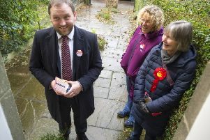 Scottish Labour's Ian Murray, now the only Labour MP north of the Border, out and about campaigning on Grange Loan, Edinburgh. (Picture: Ian Rutherford)
