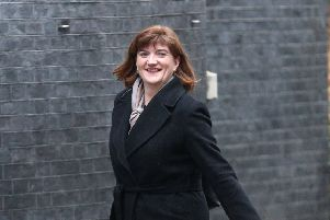 Digital, Culture, Media and Sport Secretary ' but non-MP ' Nicky Morgan arrives at 10 Downing Street after being reappointed to Cabinet despite not being an MP (Picture: SWNS)