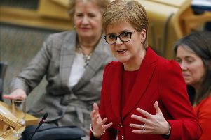 First Minister Nicola Sturgeon delivers a speech