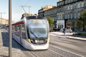 An artist's impression of the tram extension in Edinburgh (Photo: Trams to Newhaven)