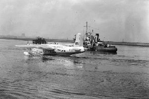 A Hythe flying boat ' a  civilian conversion of the successful wartime military aircraft the Short Sunderland ' was earmarked  for the ill-fated Leith-Southampton link.