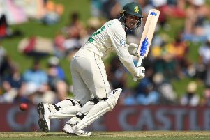 South Africa batsman Quinton de Kock fell five runs short of a century on day one of the first Test. Picture: Stu Forster/Getty