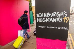 Street signs herald the forthcoming Edinburgh Hogmanay (Picture: Scott Louden)