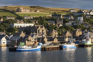 Stromness on Orkney, where the population is projected to decrease by 2.2 per cent by 2041